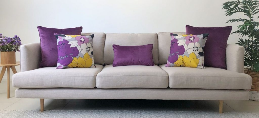 Purple Sofa Cushion for Summer Decor