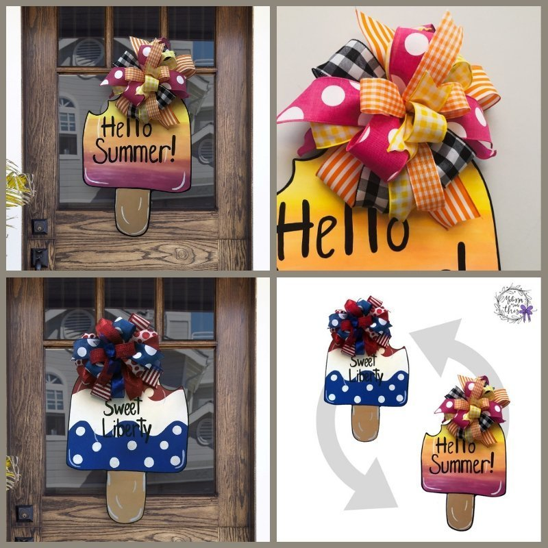 Summer Reversible Door Decor